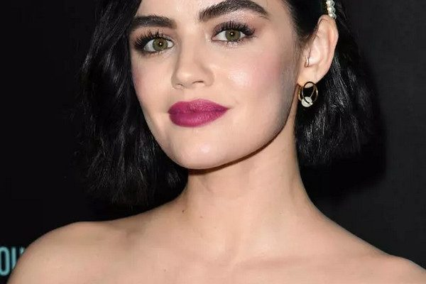 Lucy-Hales-Dark-Hair-And-Berry-Colored-Lipstick